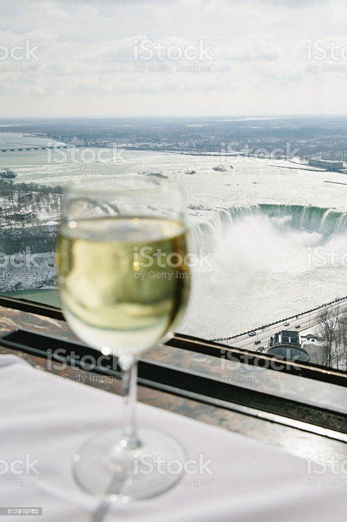 View of Niagara Falls stock photo