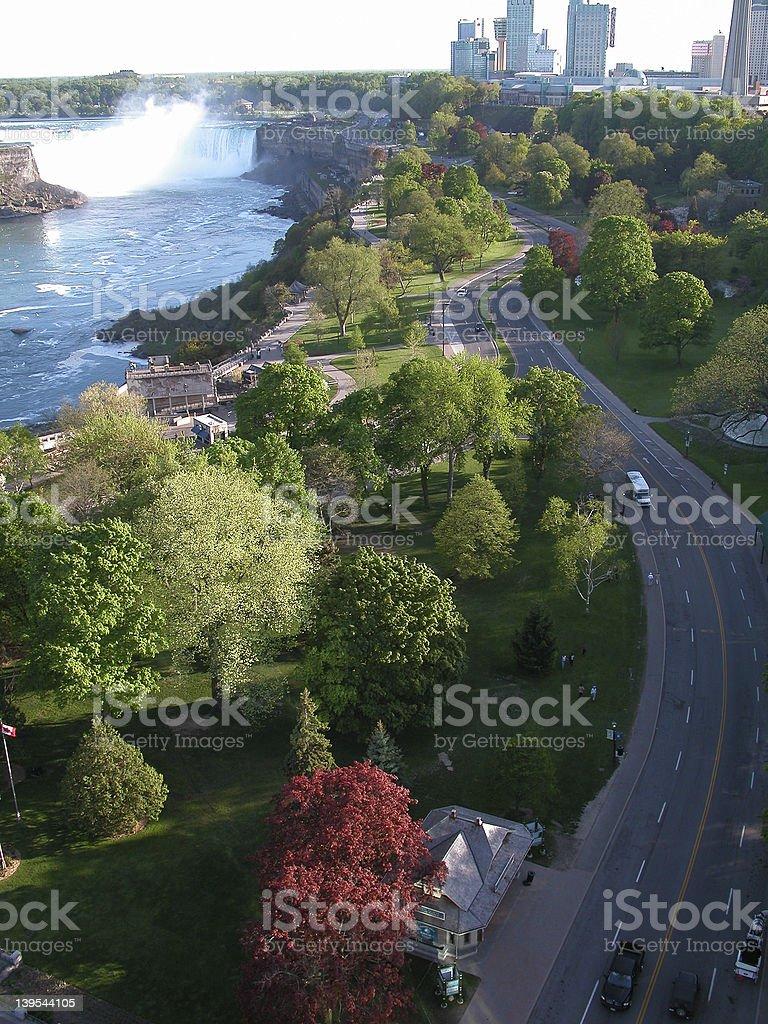 Vue du Niagara photo libre de droits