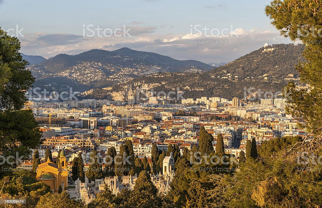 View of Nice town, Côte d'Azur -  France royalty-free stock photo