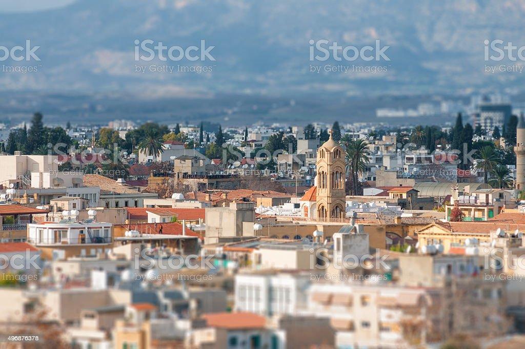 View of Nicosia stock photo