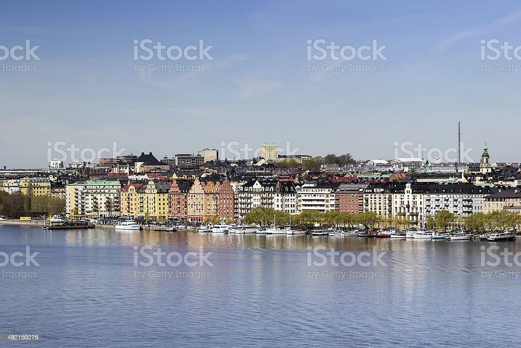 view of Norr Malarstrand, Stockholm stock photo