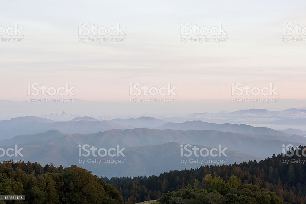 View of Northern California and San Francisco royalty-free stock photo