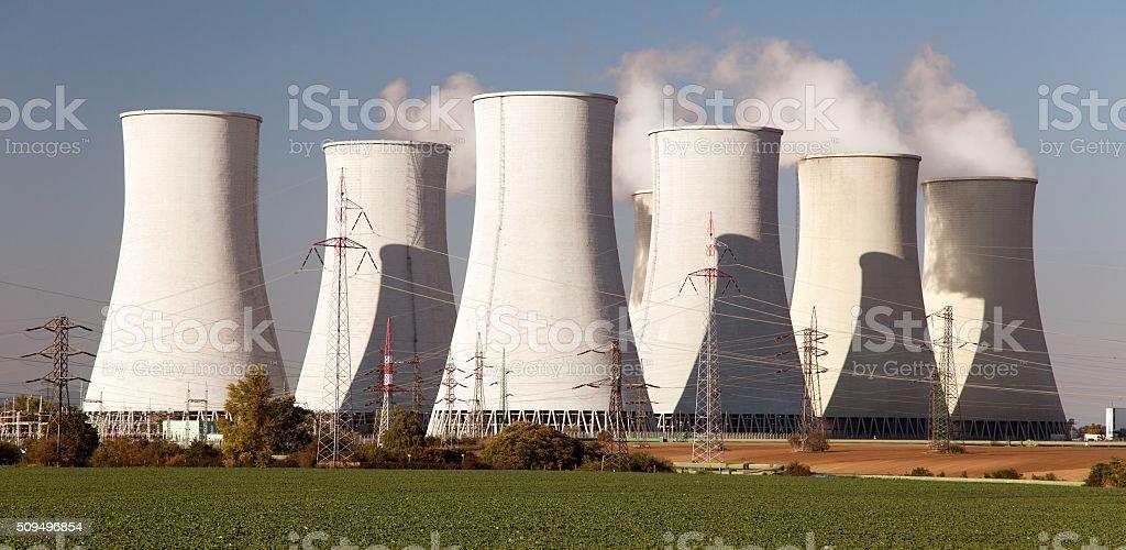 View of Nuclear power plant Jaslovske Bohunice - Slovakia stock photo