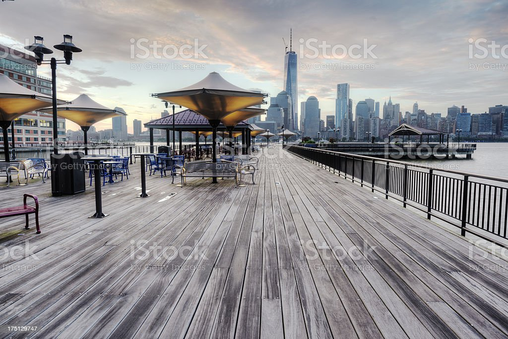 View of NYC from Boardwalk stock photo