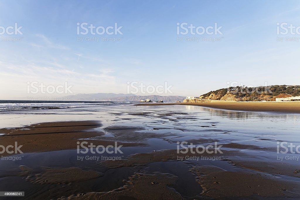 View of Ocean beach in San Francisco royalty-free stock photo