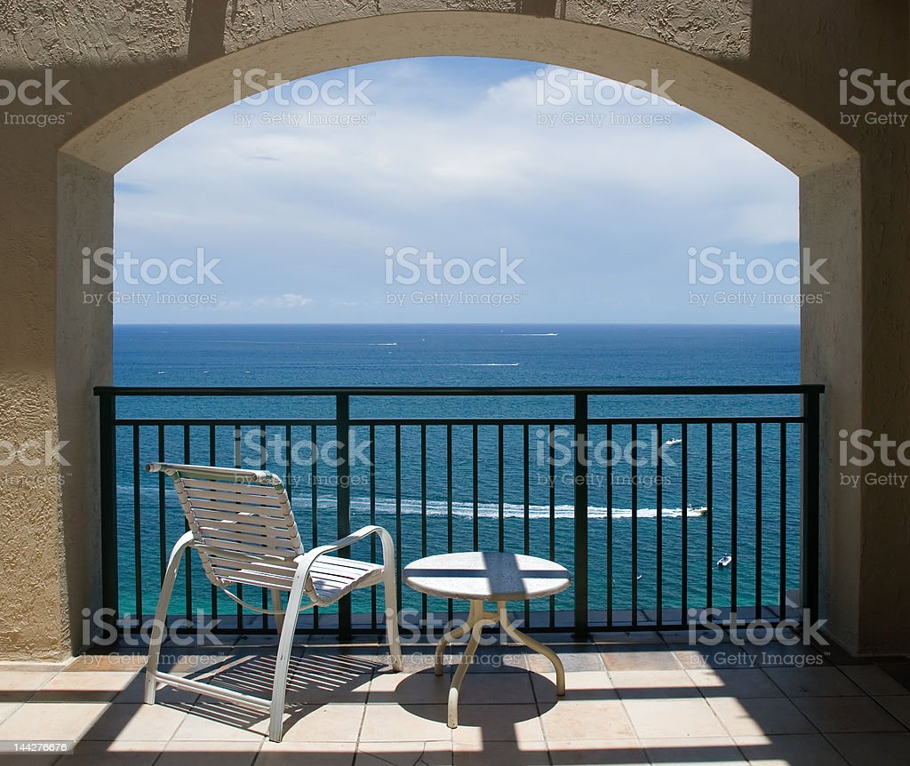 View of Ocean Under Arch royalty-free stock photo