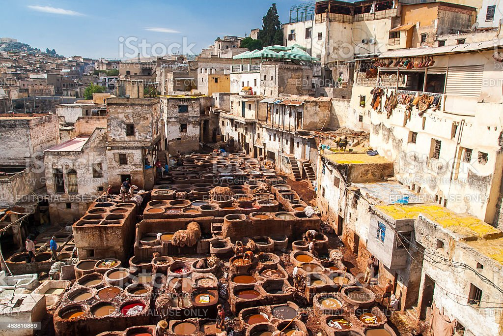 view of old medina in Fes stock photo