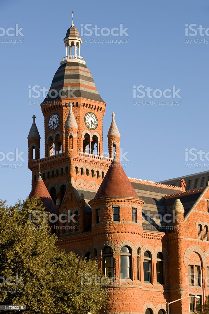 A view of Old Red Museum, Dallas stock photo