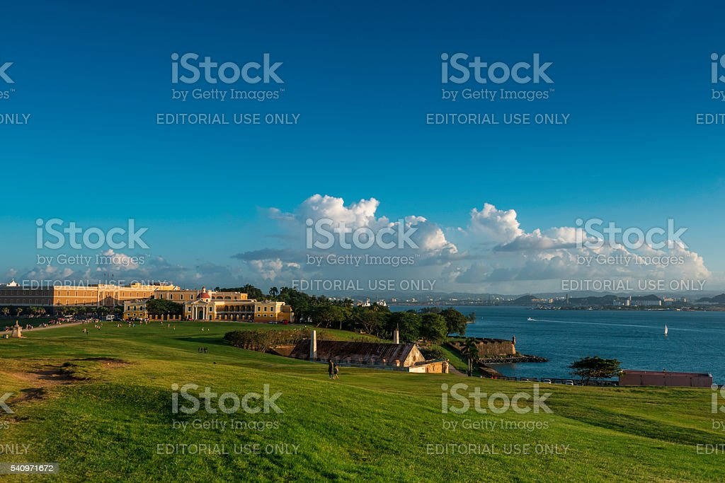 View of Old San Juan, Puerto Rico stock photo