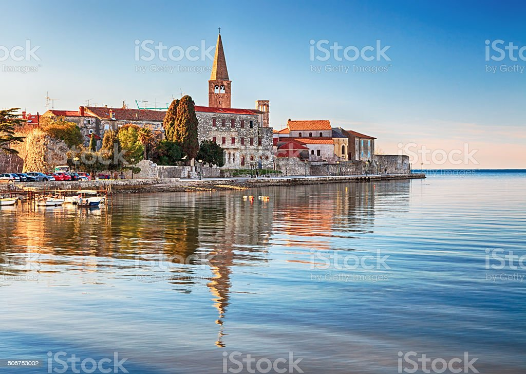 View of old town Porec, Croatia stock photo