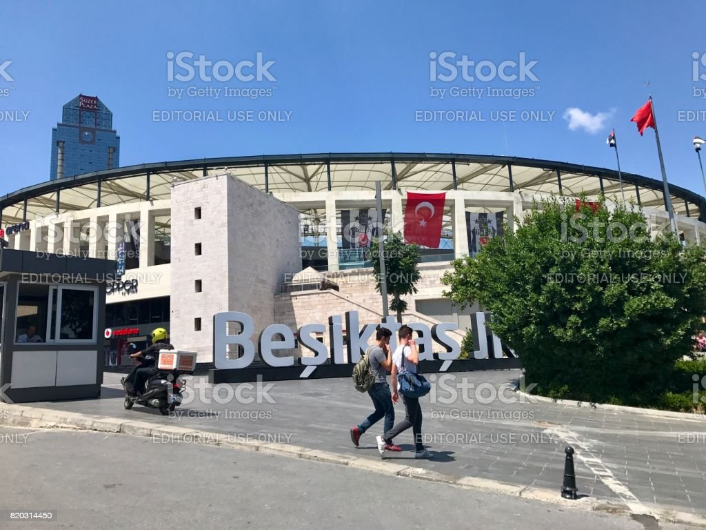 View of one of the soccer stadium belonged to Besiktas J.K. in Istanbul. stock photo