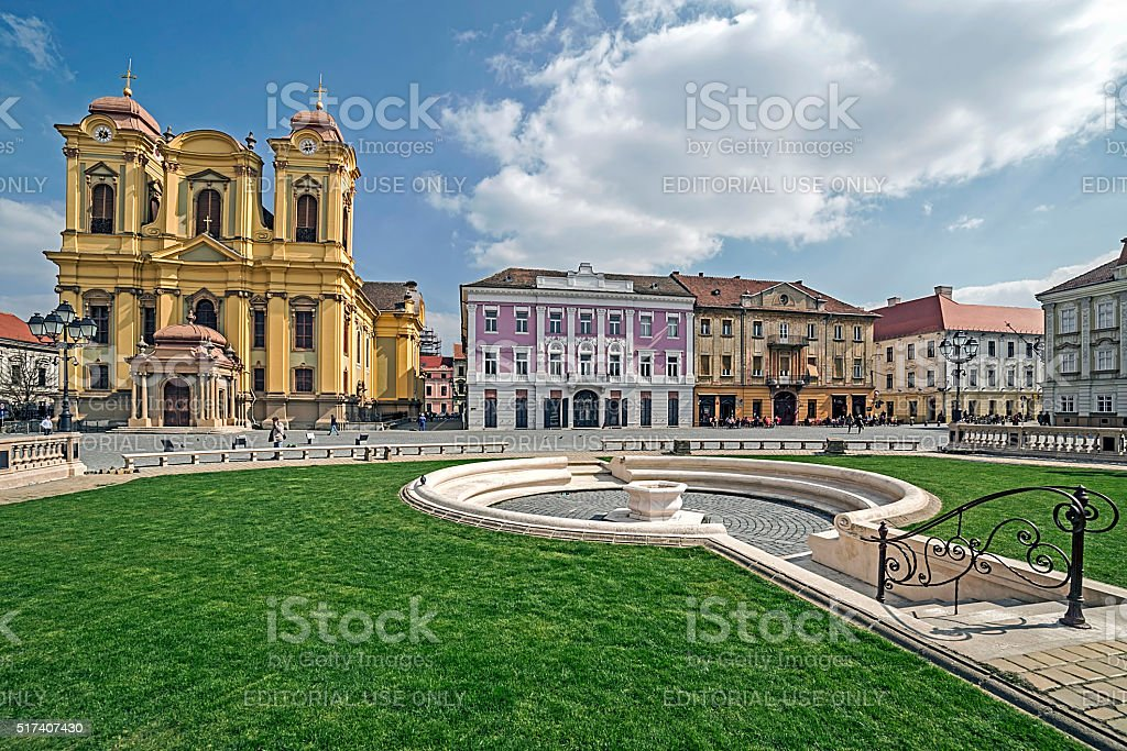 View of one part at Union Square in Timisoara, Romania stock photo