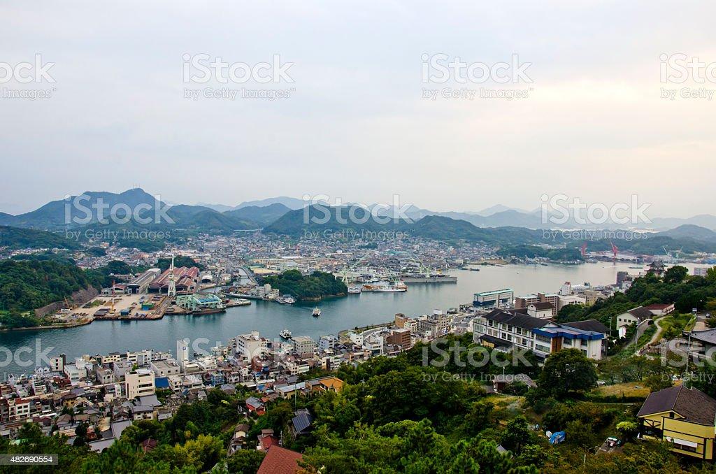 View of Onomichi City in Hiroshima stock photo