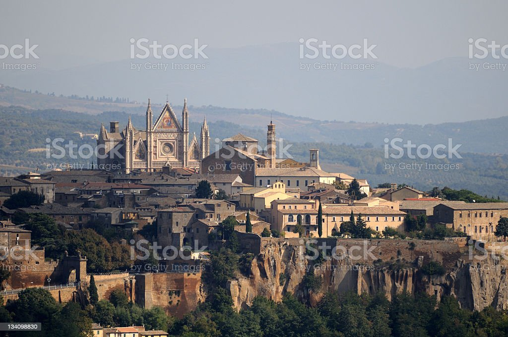 View of Orvieto landscape during the day stock photo