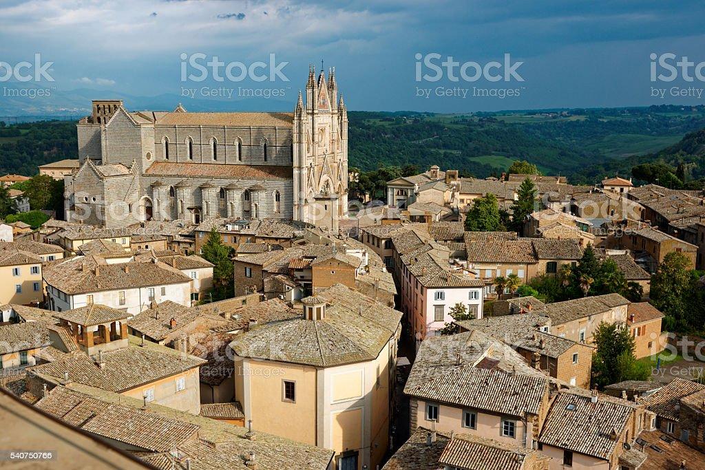 View of Orvieto town, Umbria, Italy stock photo