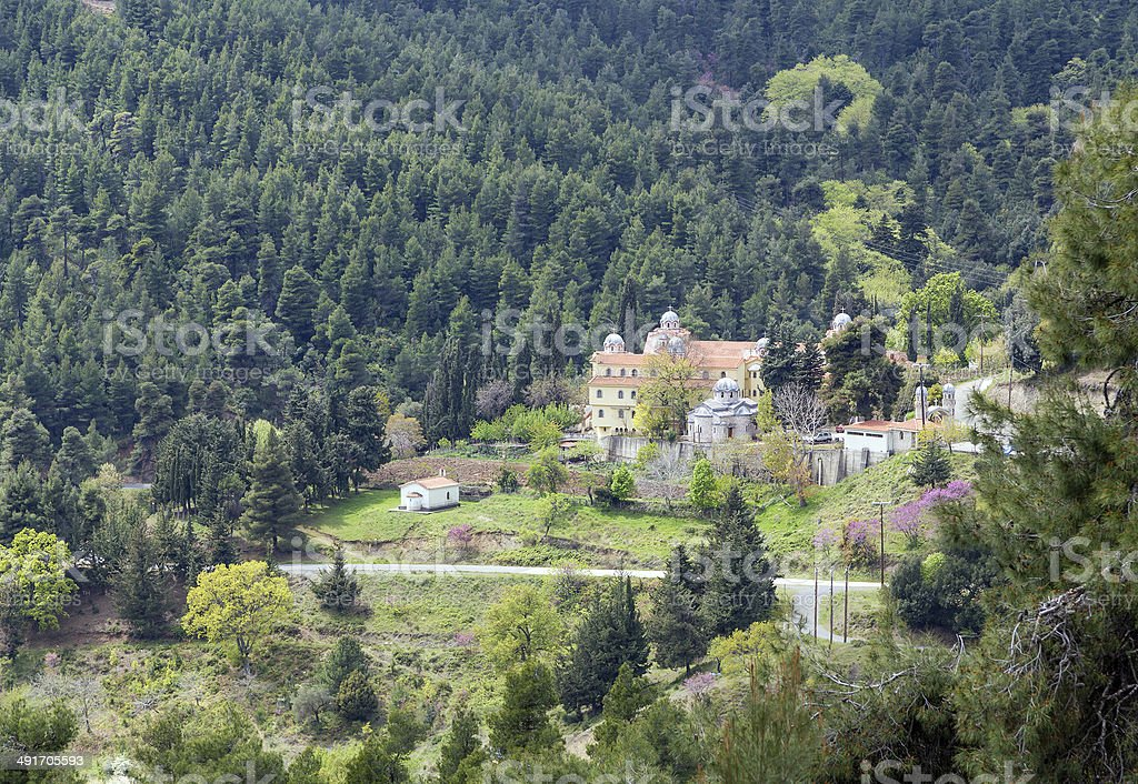 View of Osios David Monastery, Euboea, Greece stock photo