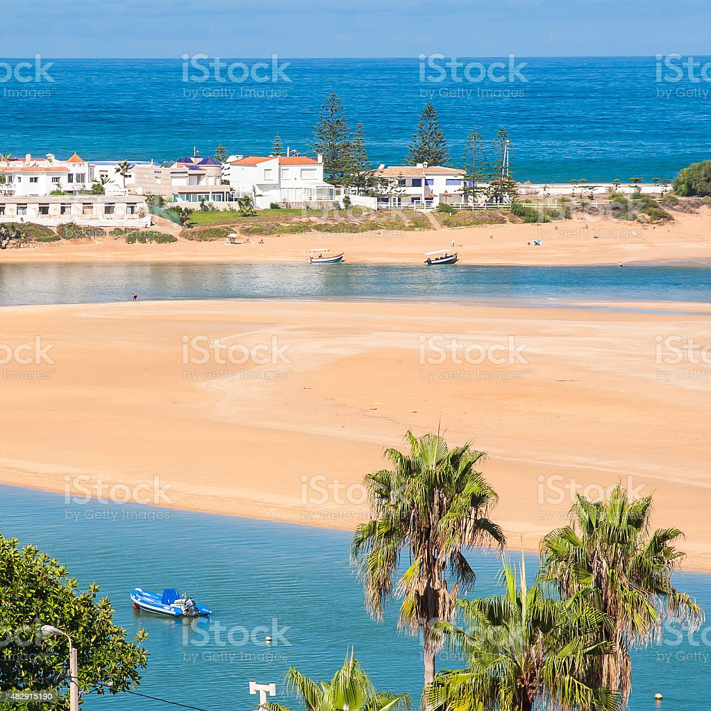 view of Oualidia stock photo