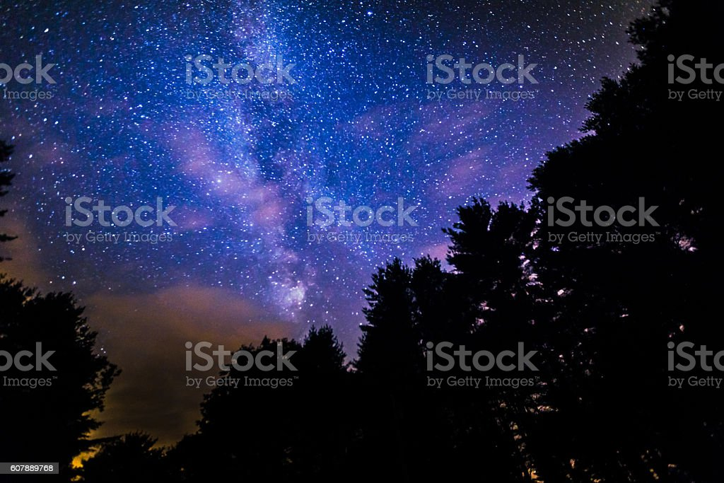 View of Our Mysterious Galaxy From Mother Earth stock photo
