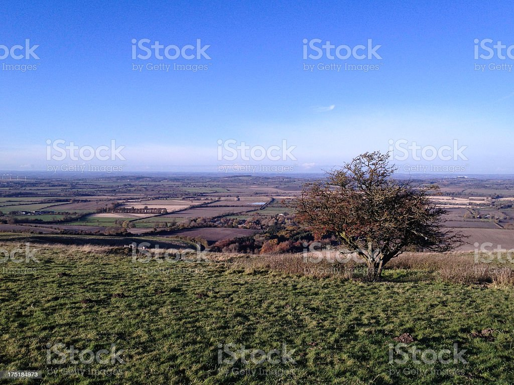 View of Oxfordshire countryside royalty-free stock photo