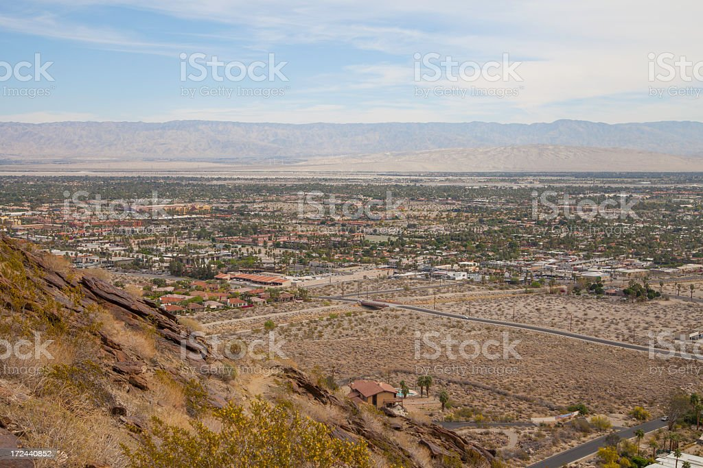 View of Palm Springs, California royalty-free stock photo