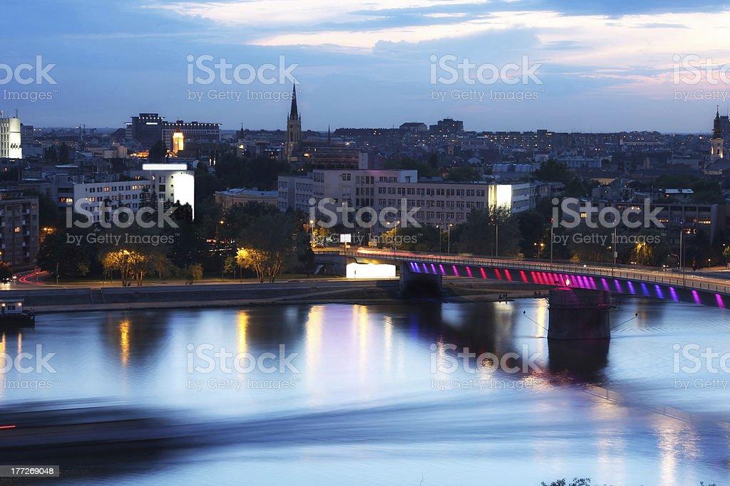 view of panorama Novi Sad, Serbia stock photo