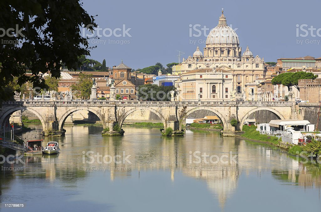 view of panorama Vatican City in Rome, Italy royalty-free stock photo