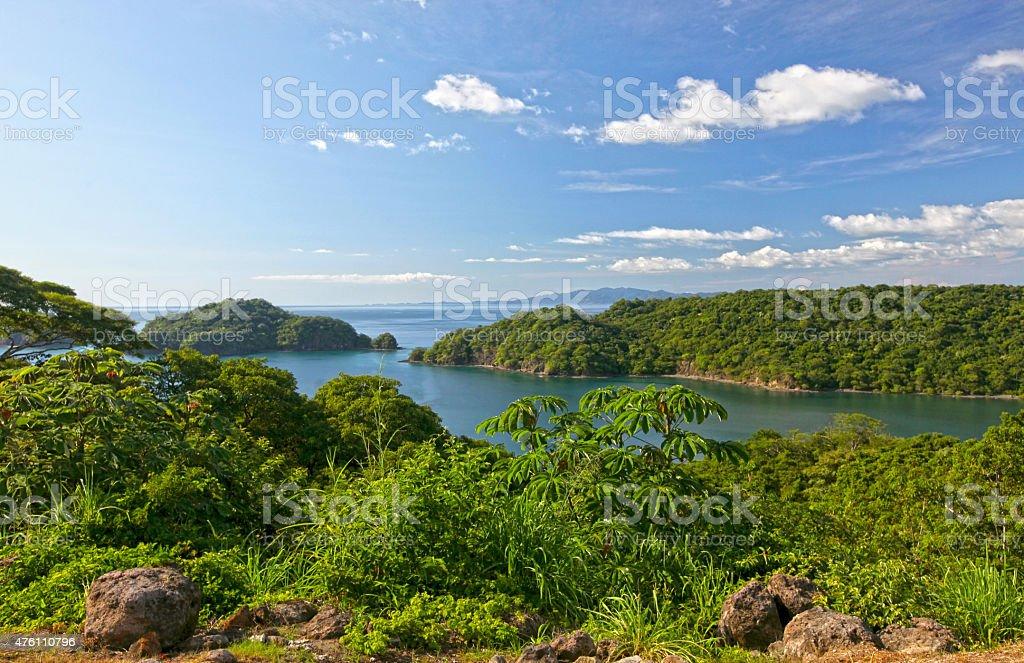 View of Papagayo Bay, Costa Rica stock photo