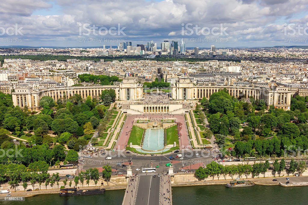 View of Paris from Eiffel Tower stock photo