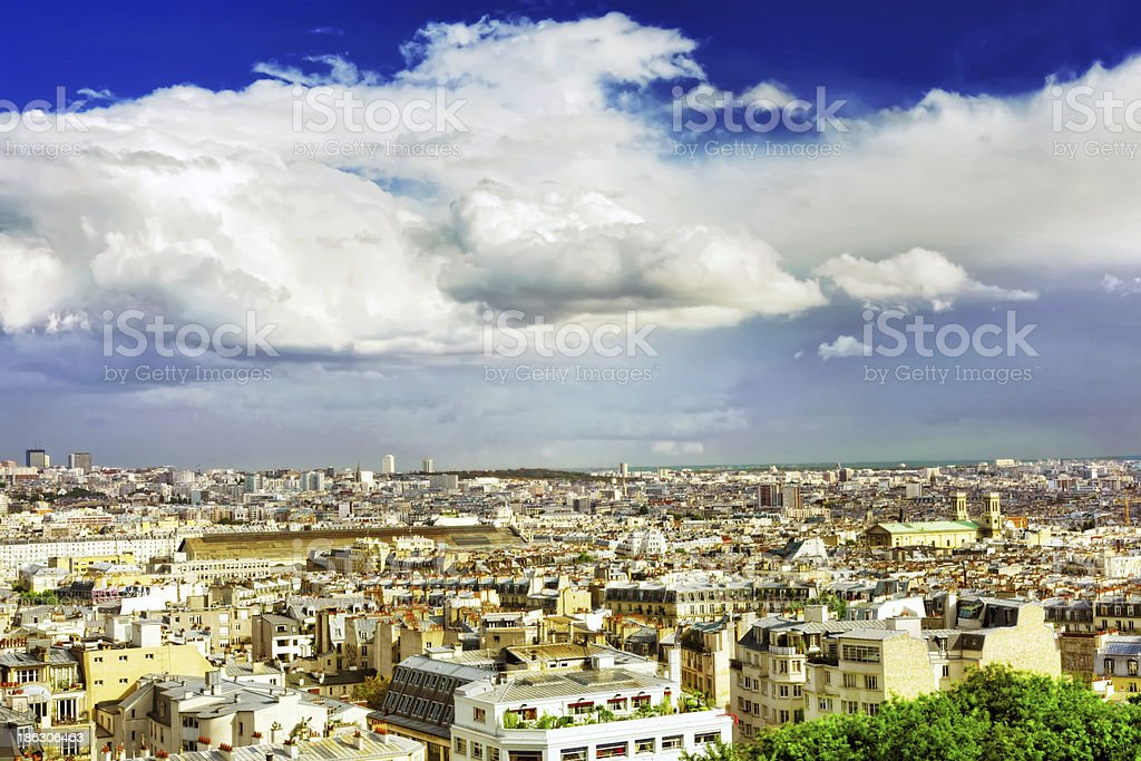 View of Paris from the hill Montmartre.Paris. royalty-free stock photo