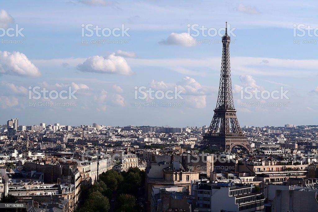 view of paris - original royalty-free stock photo