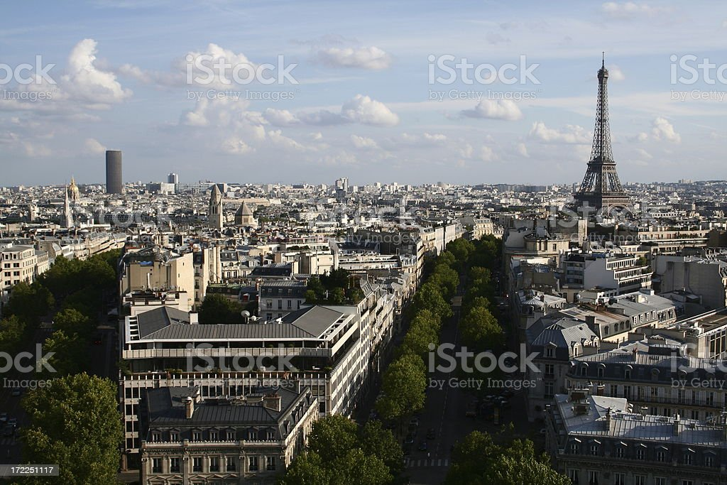 view of paris with eiffel tower royalty-free stock photo