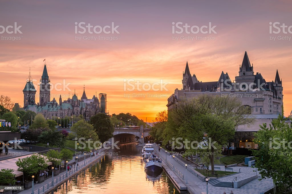View of Parliament buildings stock photo