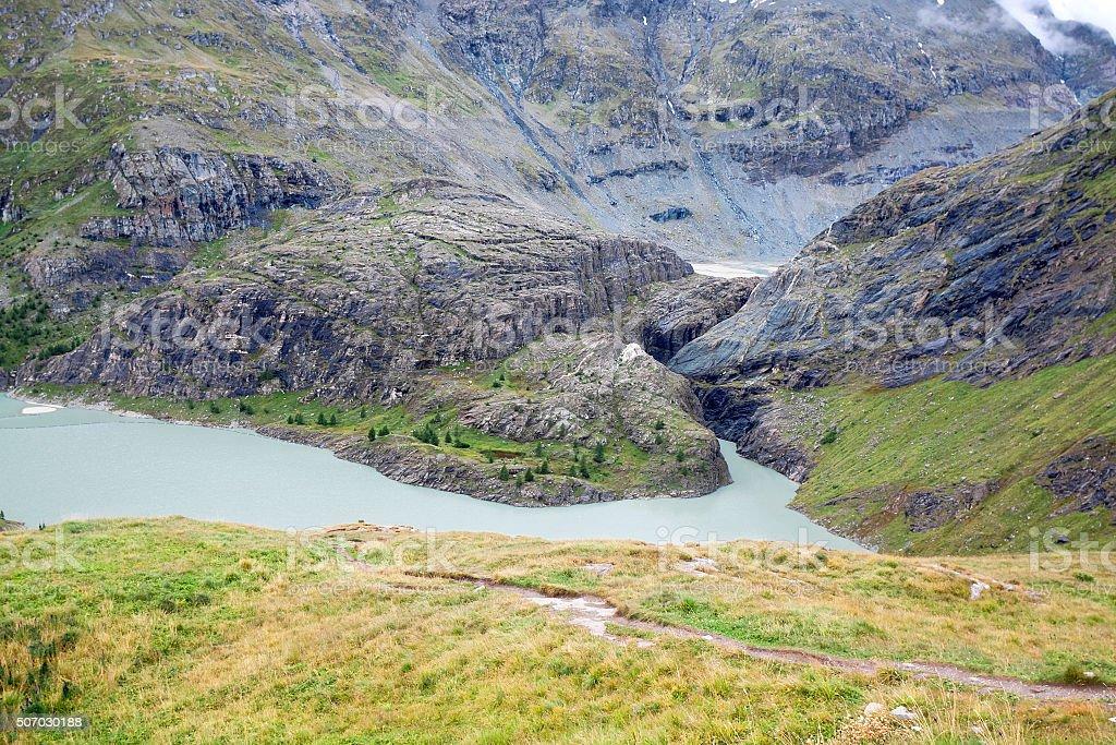 View of Pasterze Glacier in Austrian Alps at Grossglockner. Austria stock photo