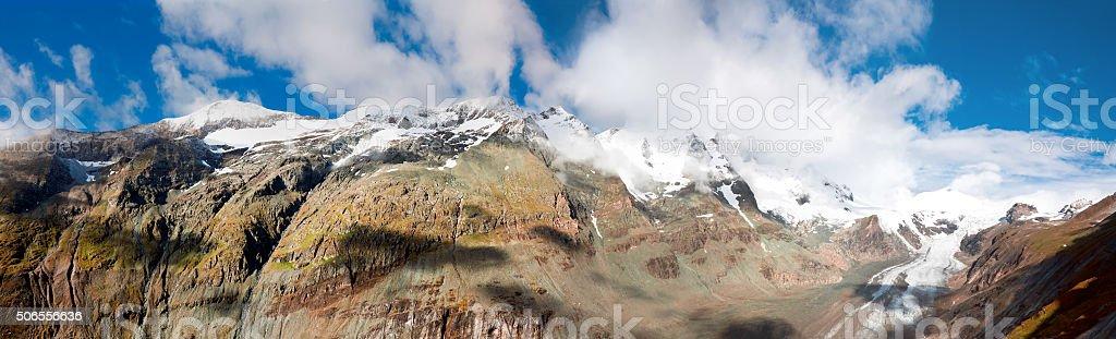 View of Pasterze Glacier in Austrian Alps at Grossglockner stock photo