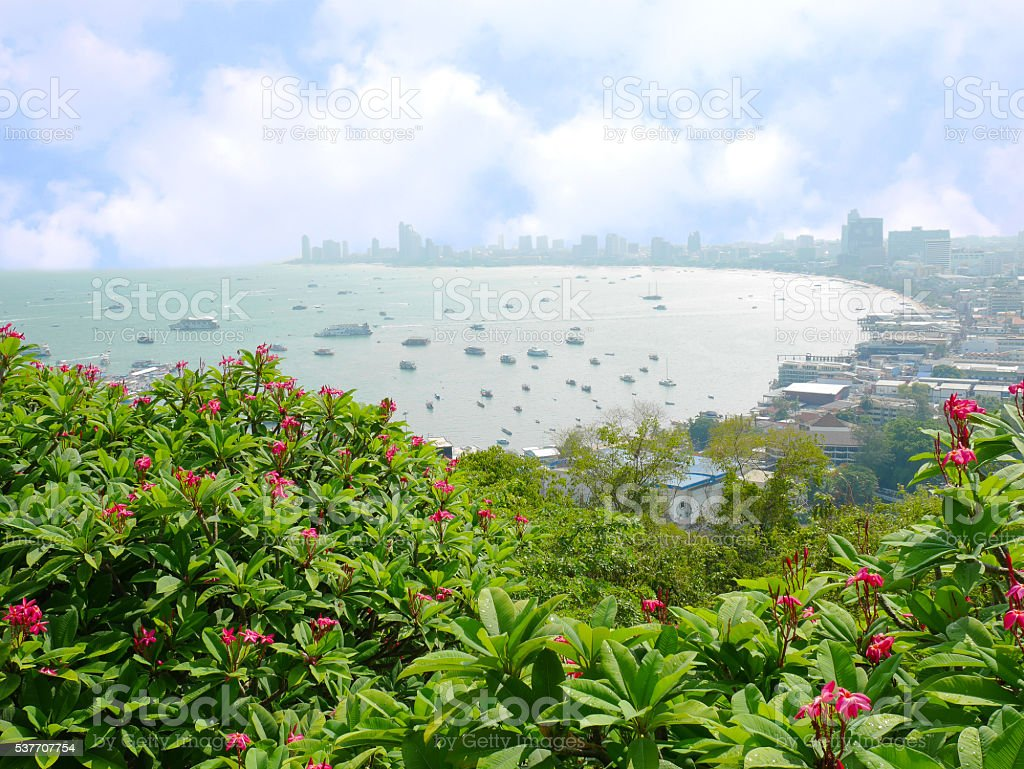 View of Pattaya, Thailand stock photo