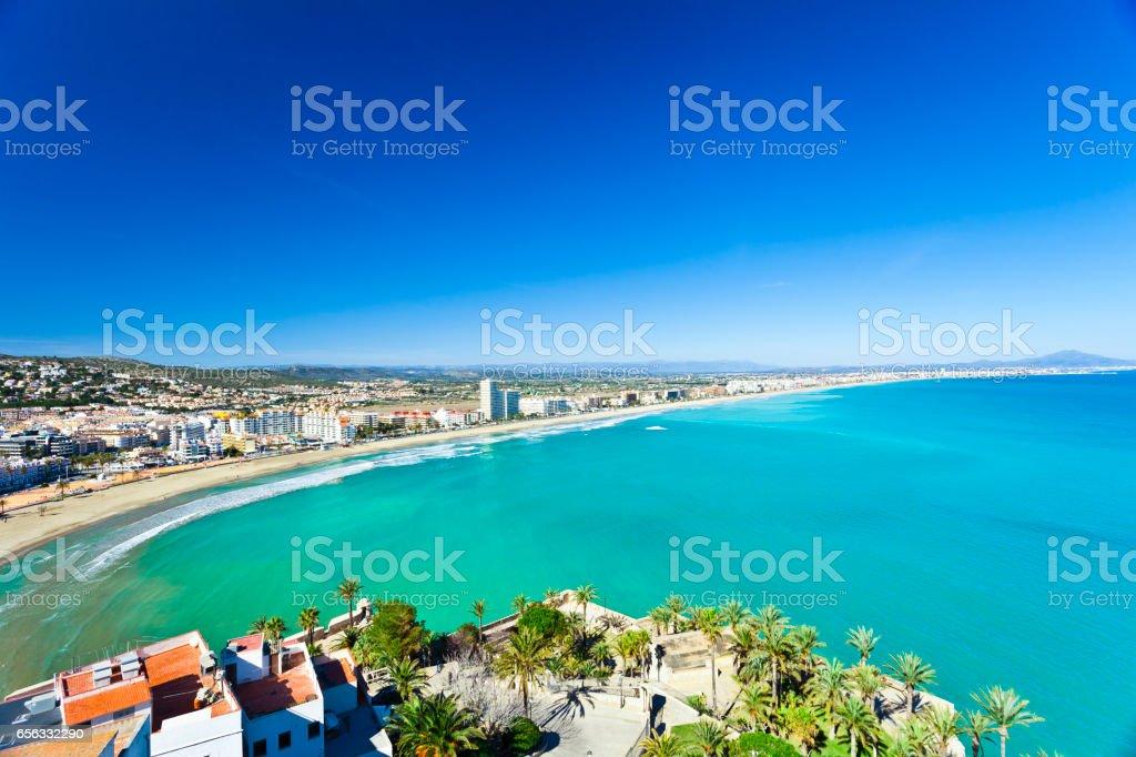 View of Peñiscola, Spain stock photo