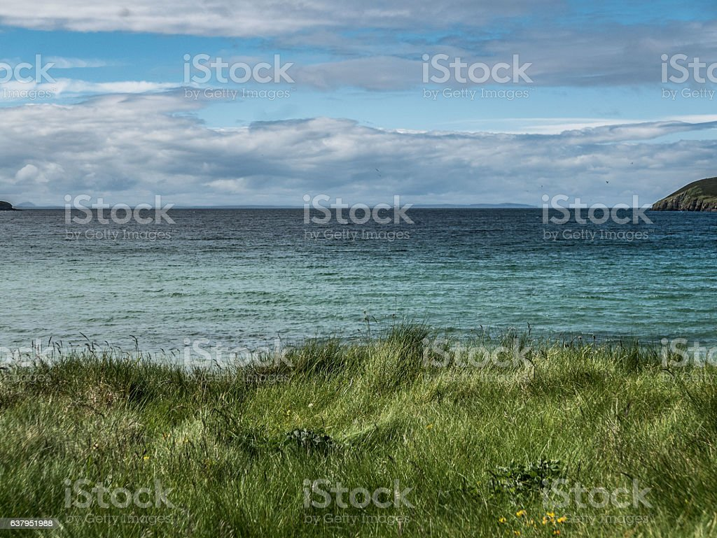 View of Pentland Firth, South Ronaldsay stock photo