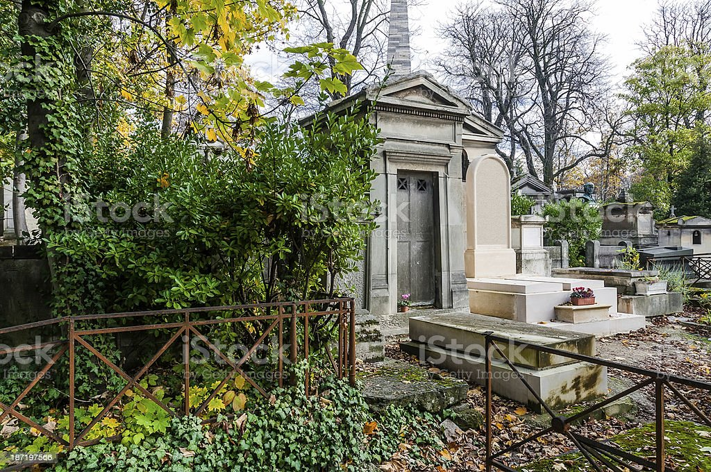 View of Pere Lachaise Cemetery stock photo