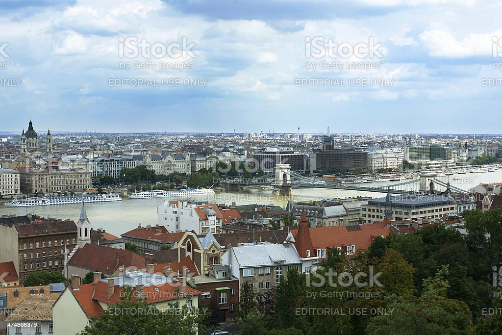 view of Pest side from Buda royalty-free stock photo