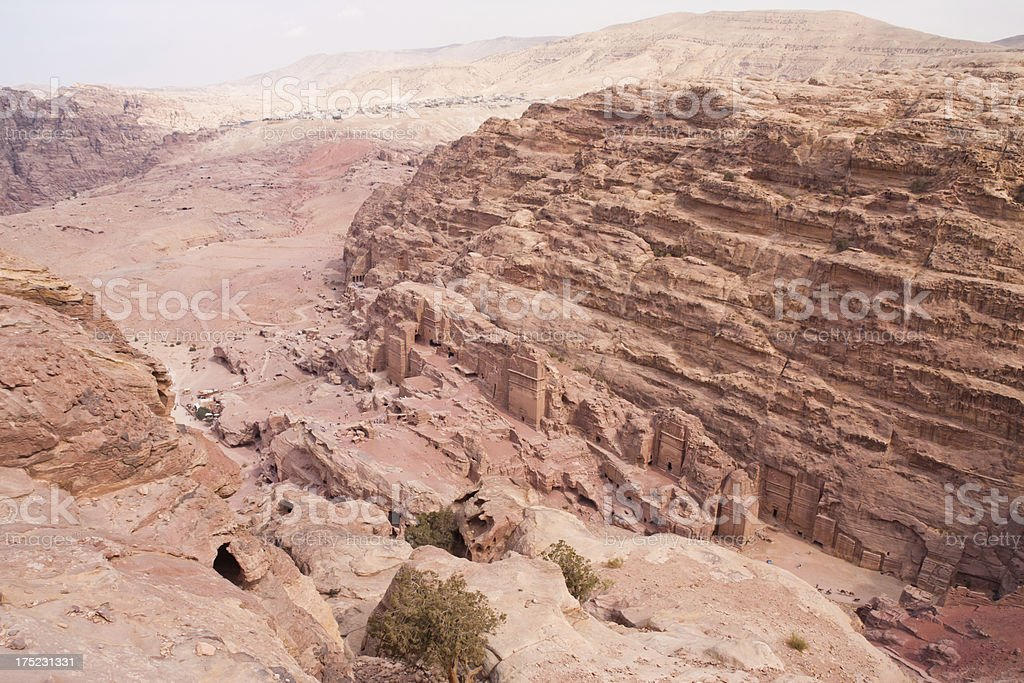 View of Petra in Jordan royalty-free stock photo