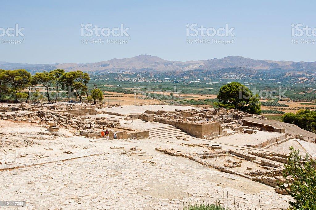 View of Phaistos. Creete, Greece. stock photo