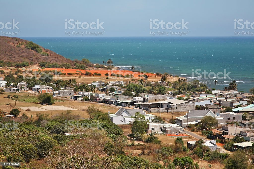 View of Phan Thiet. Vietnam stock photo