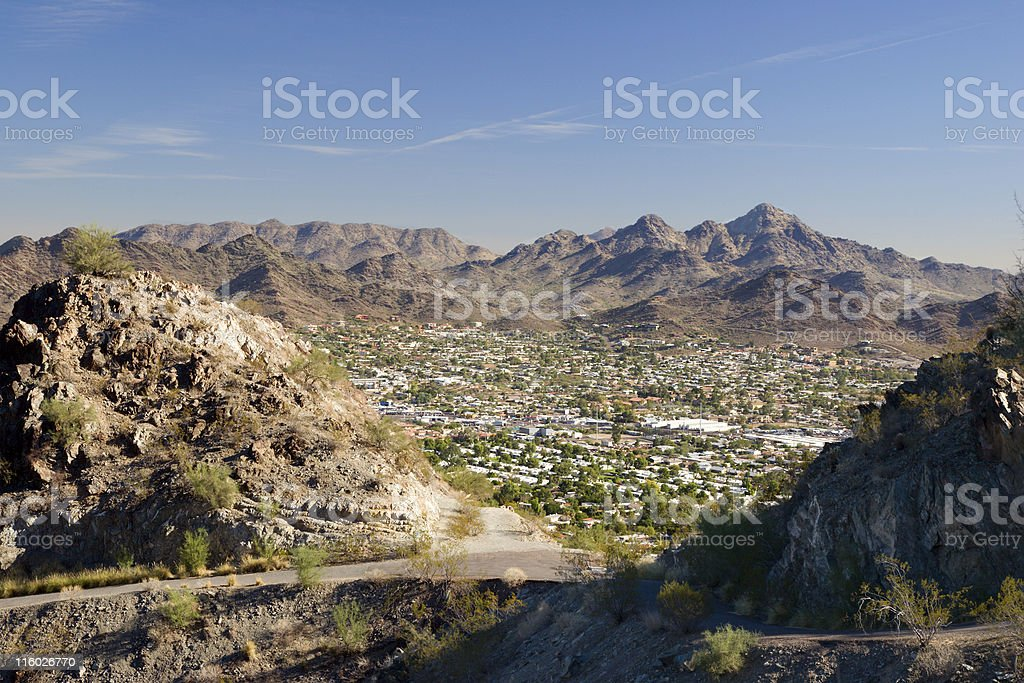 View of Phoenix, East Side, Arizona royalty-free stock photo