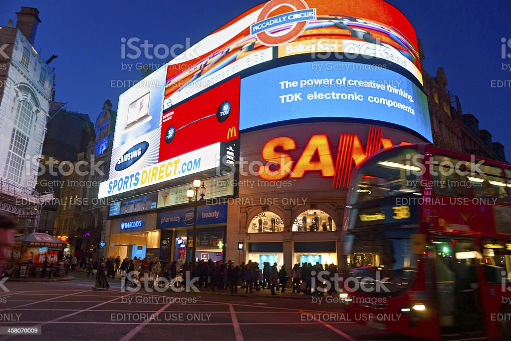 View of Piccadilly Circus. London, UK. stock photo