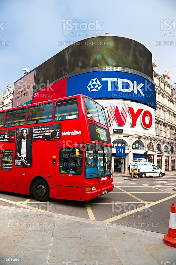 View of Piccadilly Circus. London, UK. royalty-free stock photo