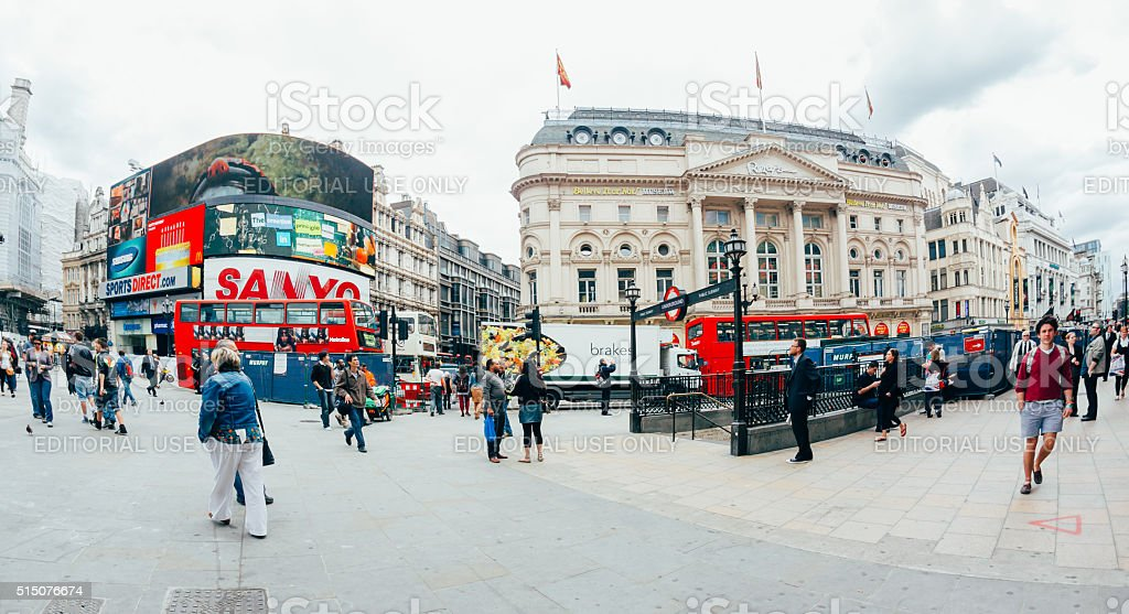 View of Piccadilly Circus on October stock photo
