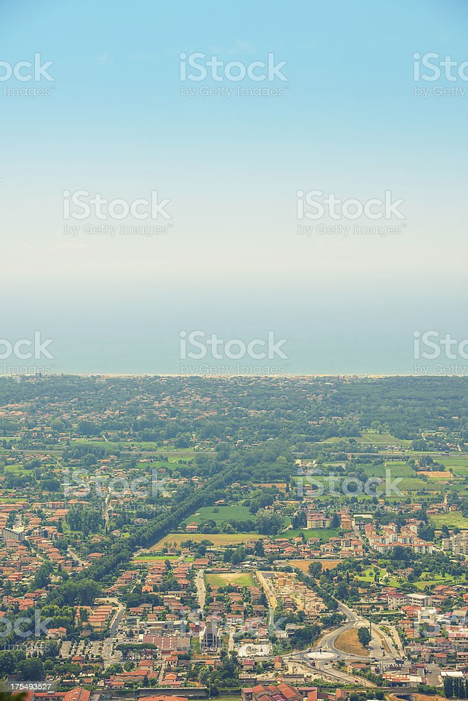 View of Pietrasanta Italy stock photo