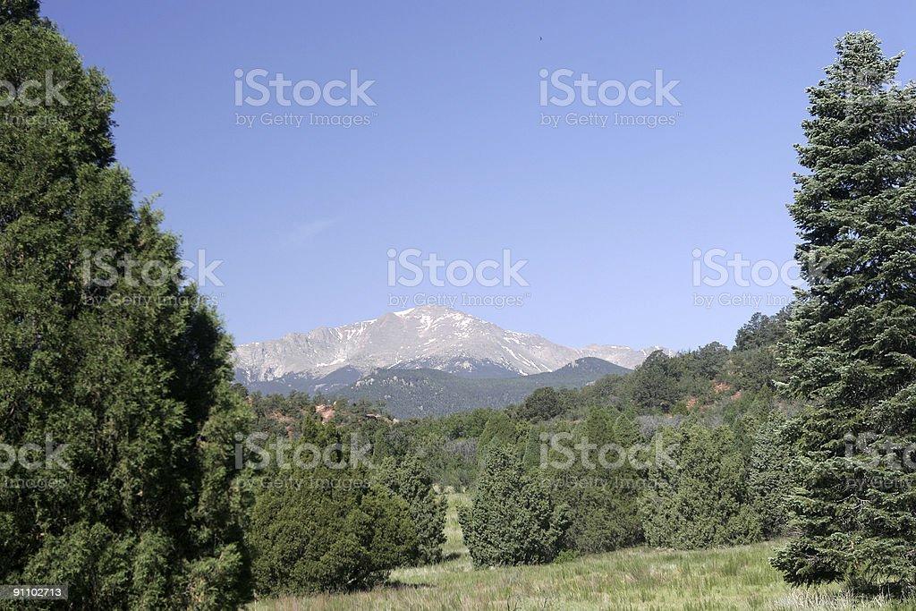 View of Pikes Peak royalty-free stock photo