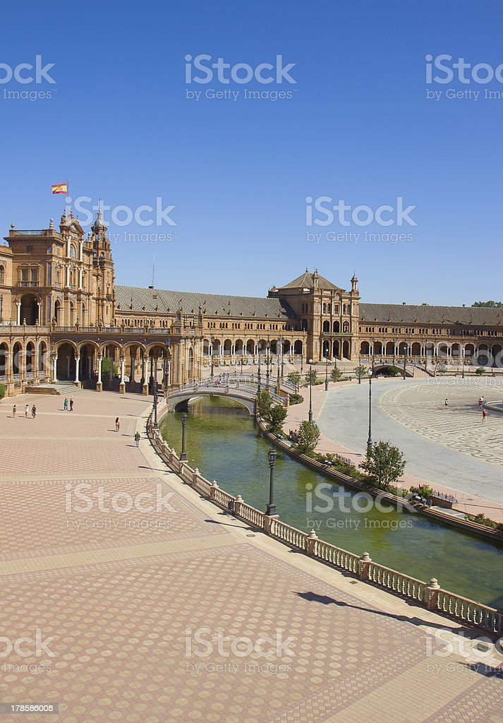 view of plaza de Espana, Sevilla, Spain royalty-free stock photo