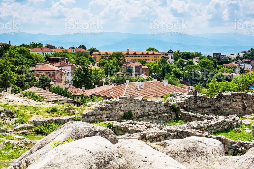 View of Plovdiv city, Bulgaria stock photo